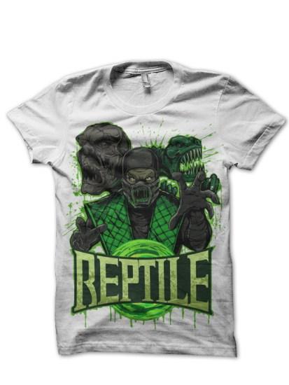 reptile white tee