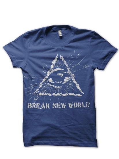Illuminati navy blue tee