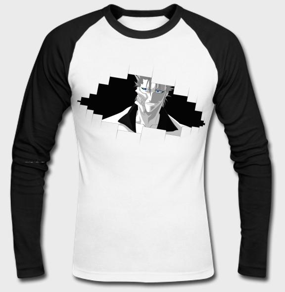 Bleach anime raglan sleeve t shirt part 1 for How to bleach part of a shirt