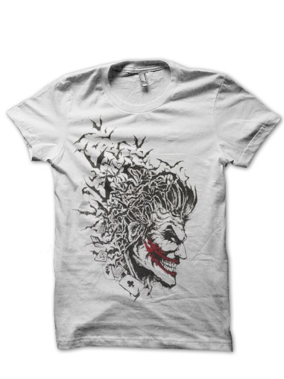 joker bat white tee