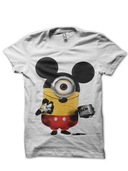 minion mouse white tshirt