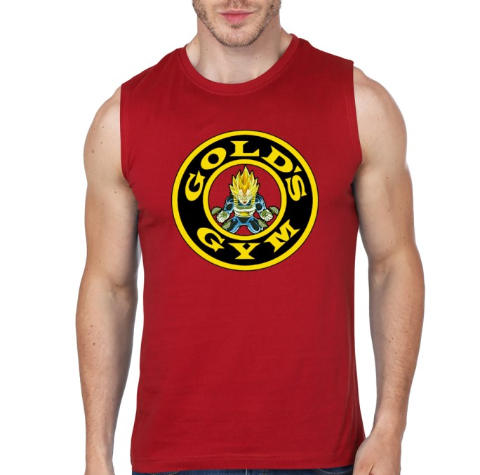 vegeta gym red vest