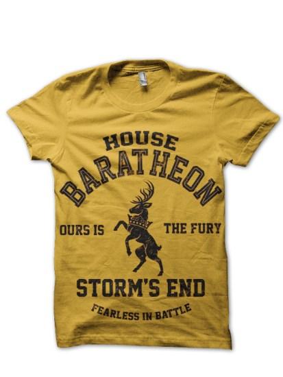 house baratheon yellow tee 1