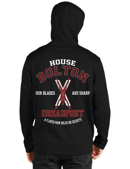 house bolton black hoodie back