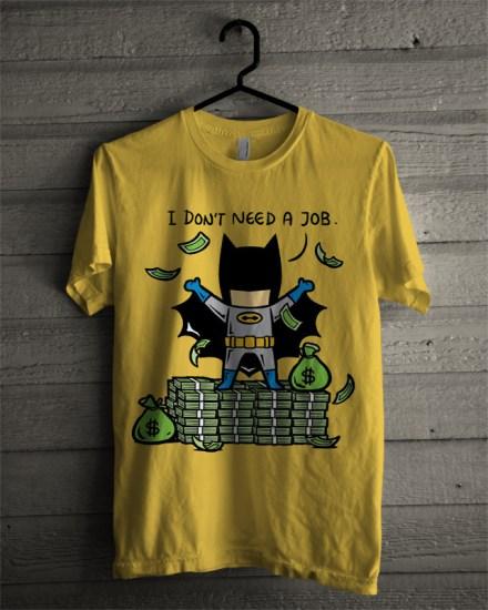 batman yellow tee