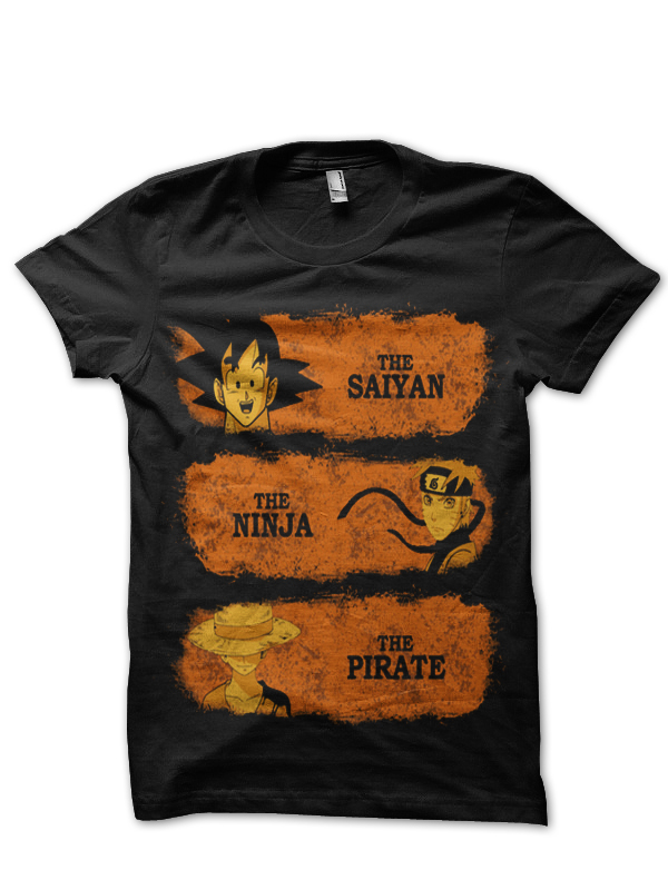 dragon ball z t-shirt black