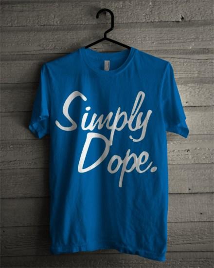 simply dope blue tee