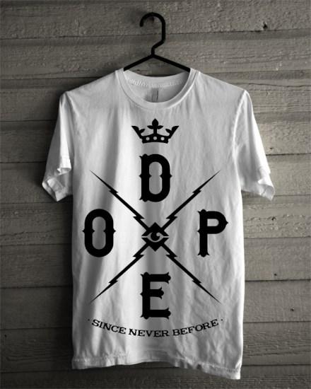never dope white tee
