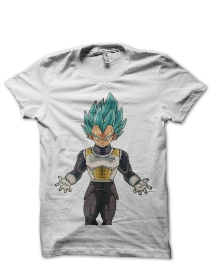 vegeta white t shirt