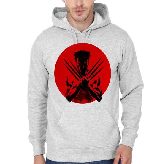 wolverine grey hoodie