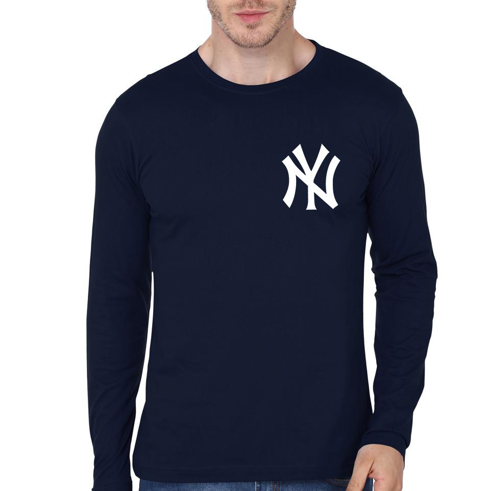 Ny navy blue full sleeve t shirt part 1 for Full sleeve t shirts online