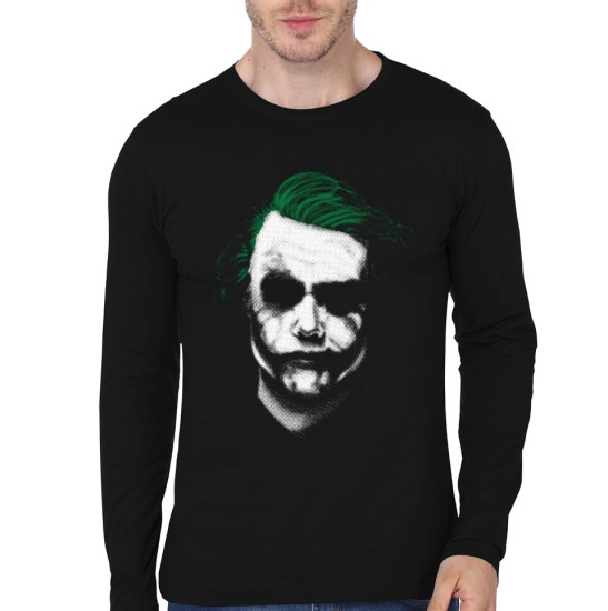 joker black full sleeve tee