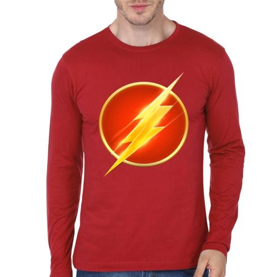 flash red full sleeve tee
