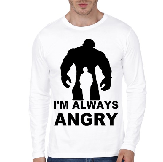angry hulk white te