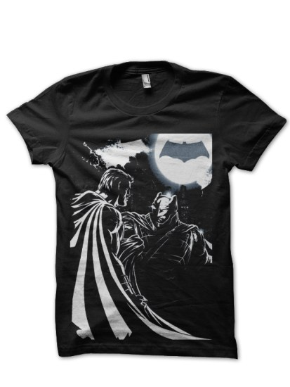 batman v superman black tee
