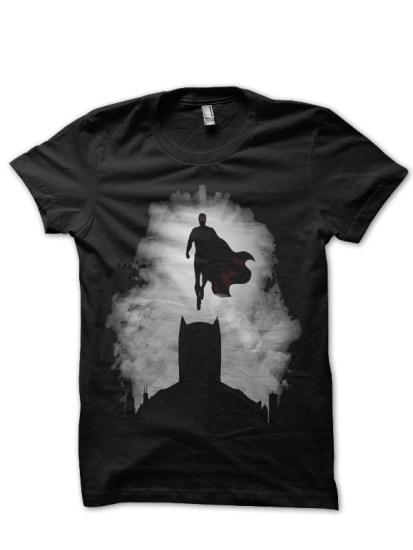 batman vs superman black tee1