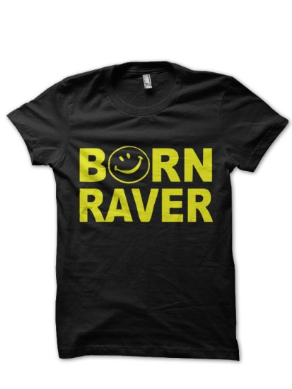 born to party black t-shirt