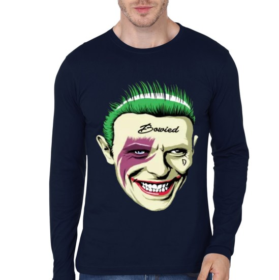 bowied navy blue tee