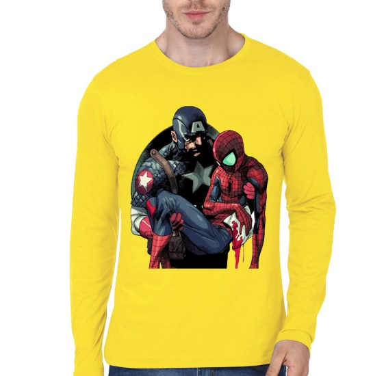 captain with spidey yellow