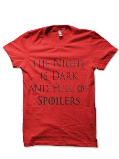 dark night red tee