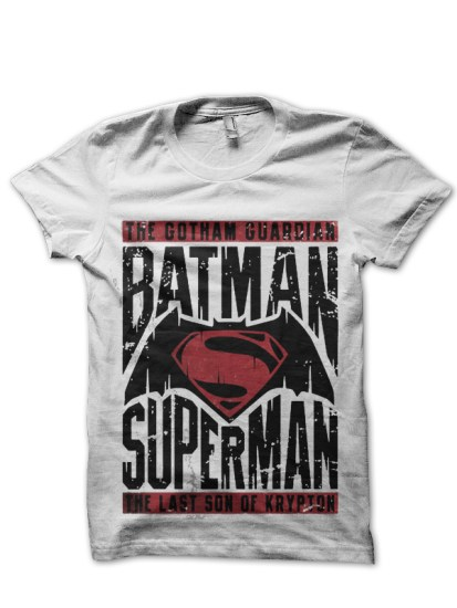 dawn of justice white tee 2