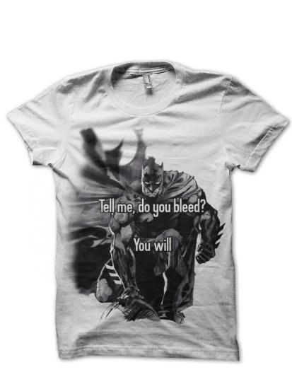 do you bleed white t-shirt