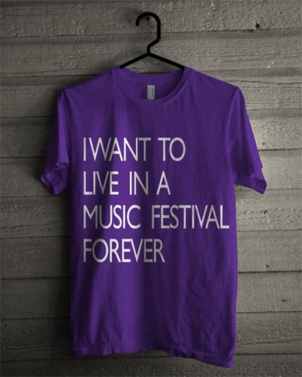 music festival purple t-shirt