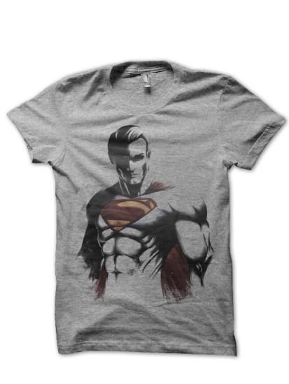 superman grey tee