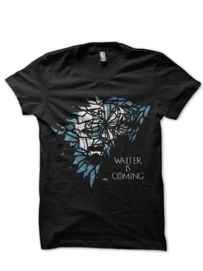walter is coming black tee