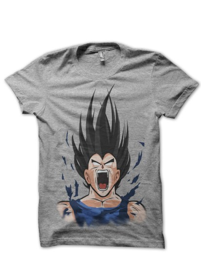 vegeta grey t-shirt