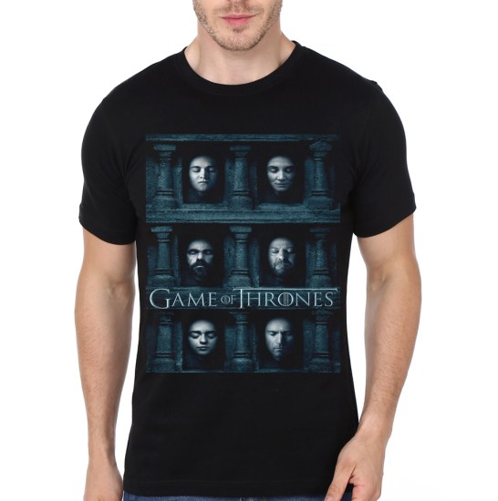 hall of faces black tee