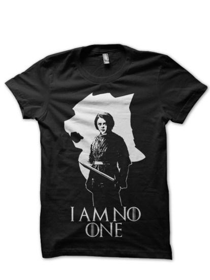 i am no one arya stark black t-shirt
