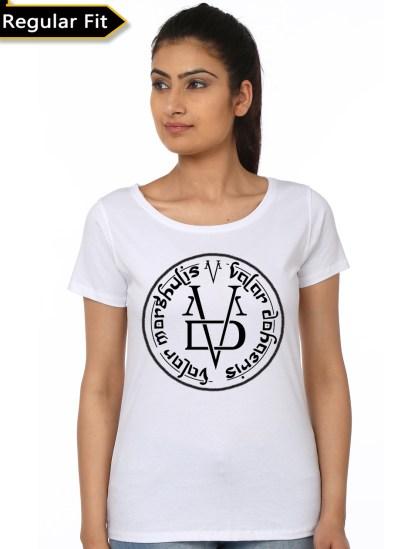 valar morghulis white girls t-shirt