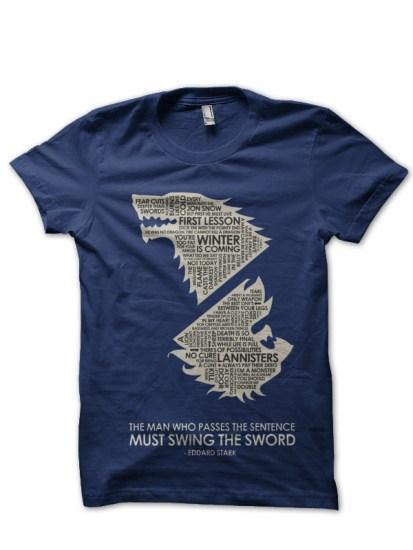 edded stark navy blue t-shirt