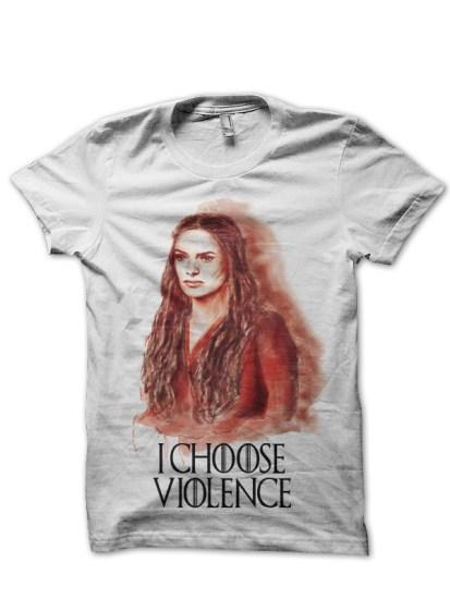 cersei lannister white t-shirt