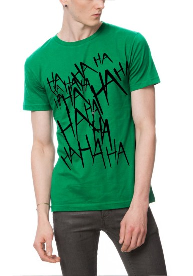 joke is on you green t-shirt