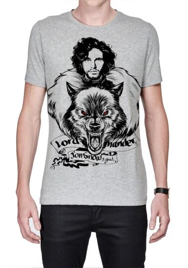 jon snow grey t-shirt
