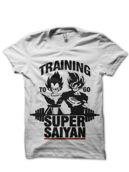 saiyan brothers white t-shirt