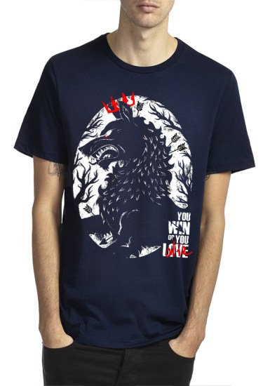you win or you die navy blue tshirt