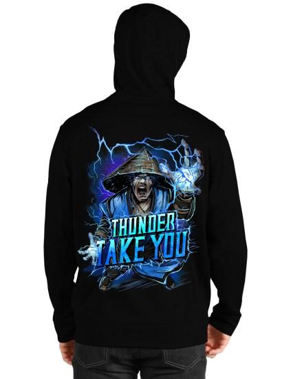 mortal kombat black hoodie back