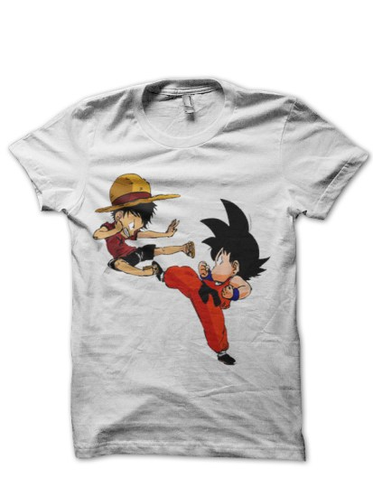 goku fighting white tee