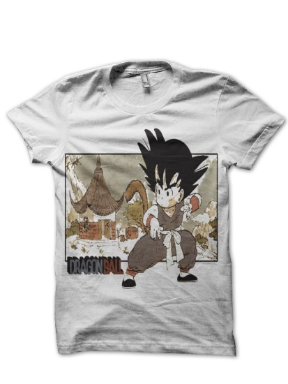 little goku white tee