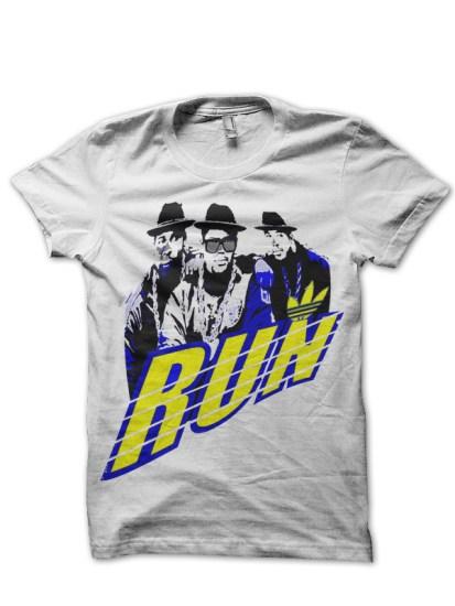 run-white-tee