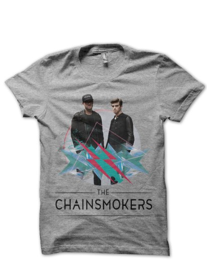 the chainsmokers grey t-shirt