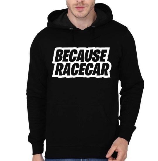 because raccar black hoodie