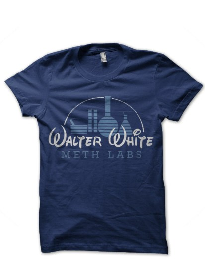 breakng bad navy blue t-shirt