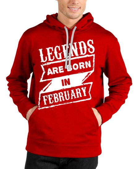 legends are born in februrary red hoodie