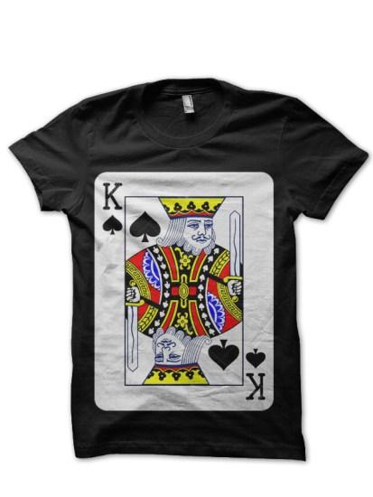 king card black t-shirt