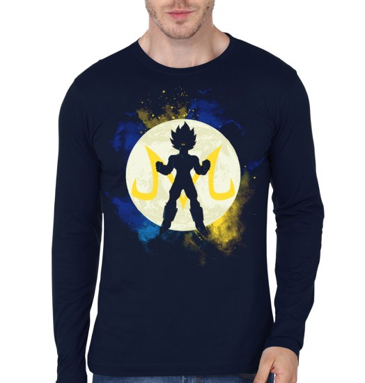majin vegeta navy blue full sleeve t-shirt