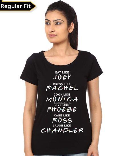 friends girl black tshirt